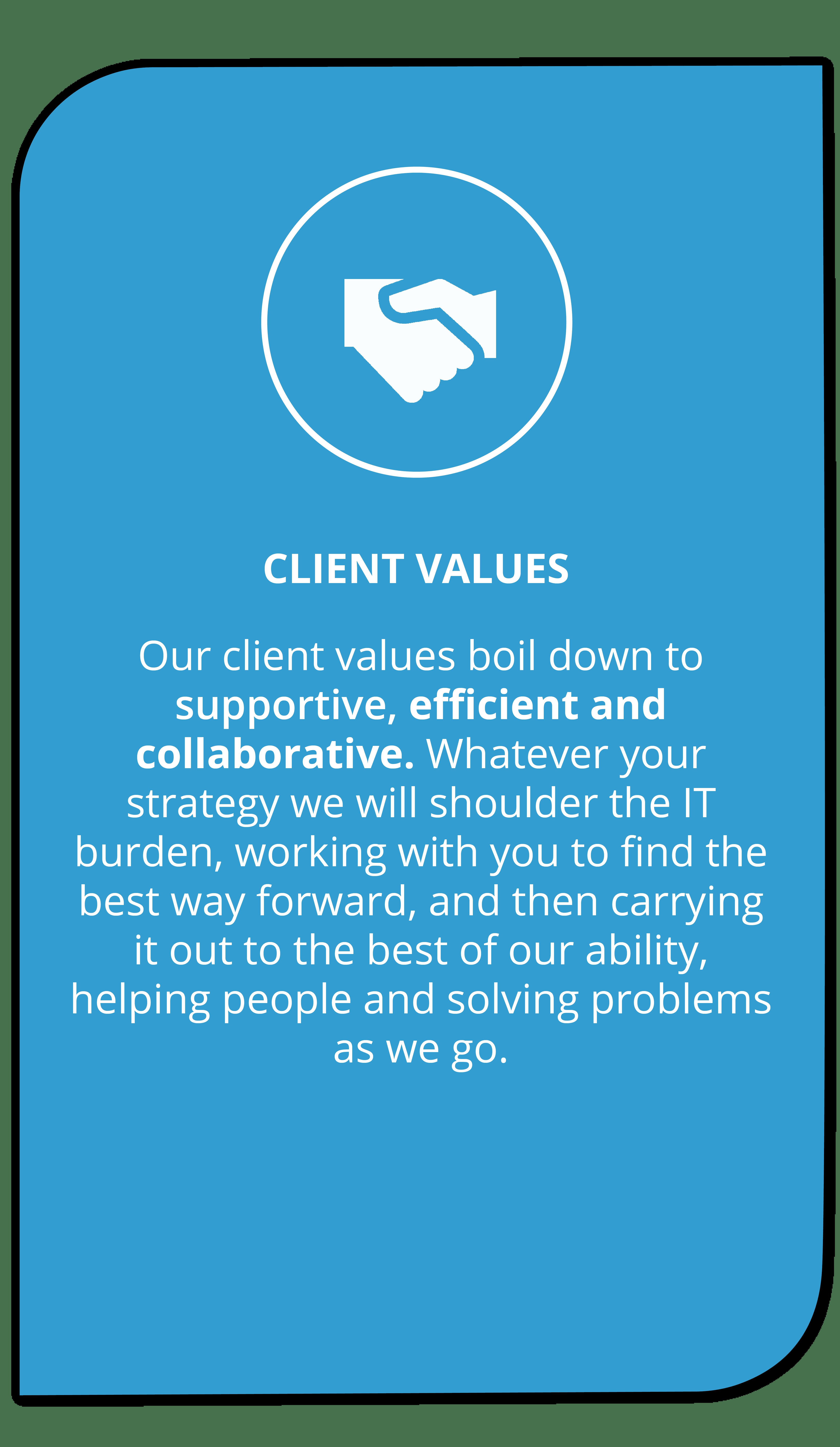 client values