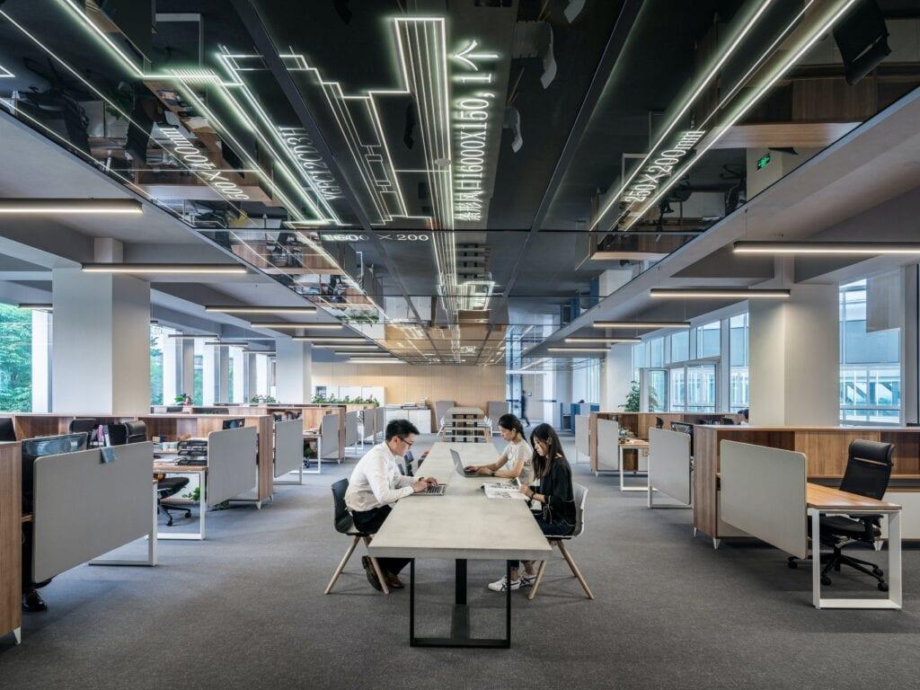 An open-plan workspace.