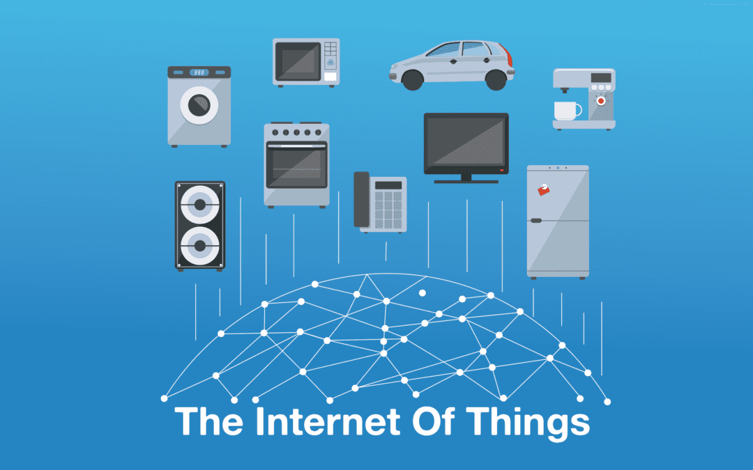 A graphic of connected devices to represent the internet of things.