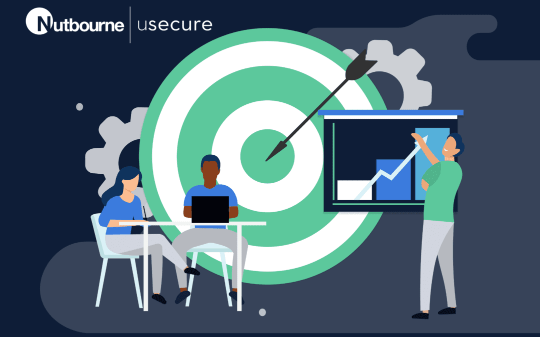 A graphic to display uSecure, a cloud service that helps mitigate the risk of ransomware attacks